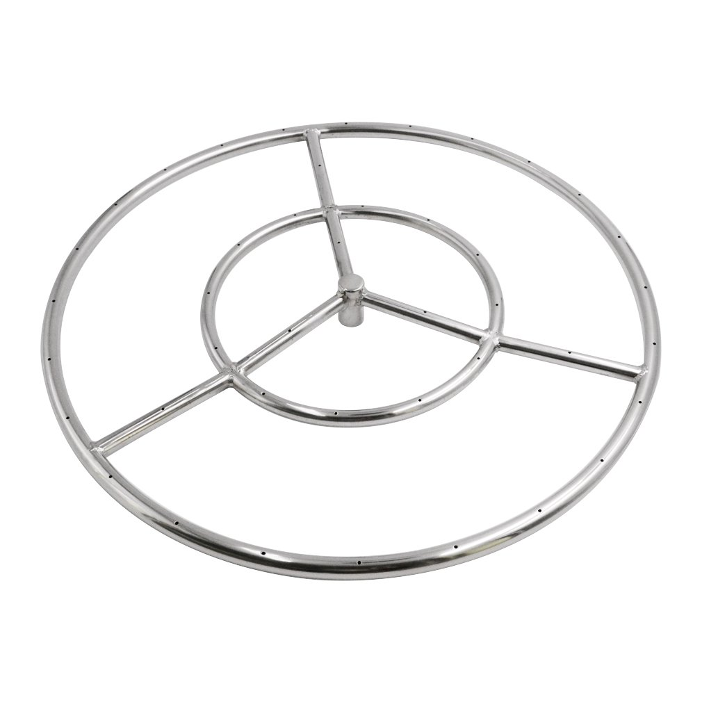 Skyflame 24-Inch Round Fire Pit Burner Ring, 304 Stainless Steel