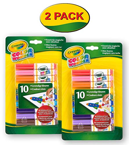 Crayola Color Wonder Markers, 10 Count (2-pack)]()