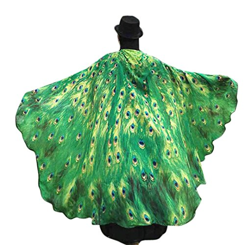 [Party Costume, METFIT Soft Fabric Butterfly Wings Shawl Fairy Ladies Nymph Pixie Costume Accessory 2017 (Green)] (Wood Nymph Costume)