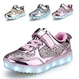 BEGT Kids LED Light Up Shoes USB Charge Casual Sneakers For Boys Girls
