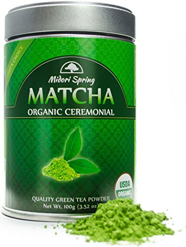 Organic Ceremonial Matcha (Emerald Class 100g) Chef s Choice Quality Japanese Matcha Powder For Beverages, Baking and Beginner Brew, Kosher, Vegan, USDA