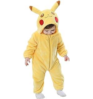 78b07bdbd Amazon.com: Unisex Baby Flannel Romper Animal Onesie Costume Hooded ...