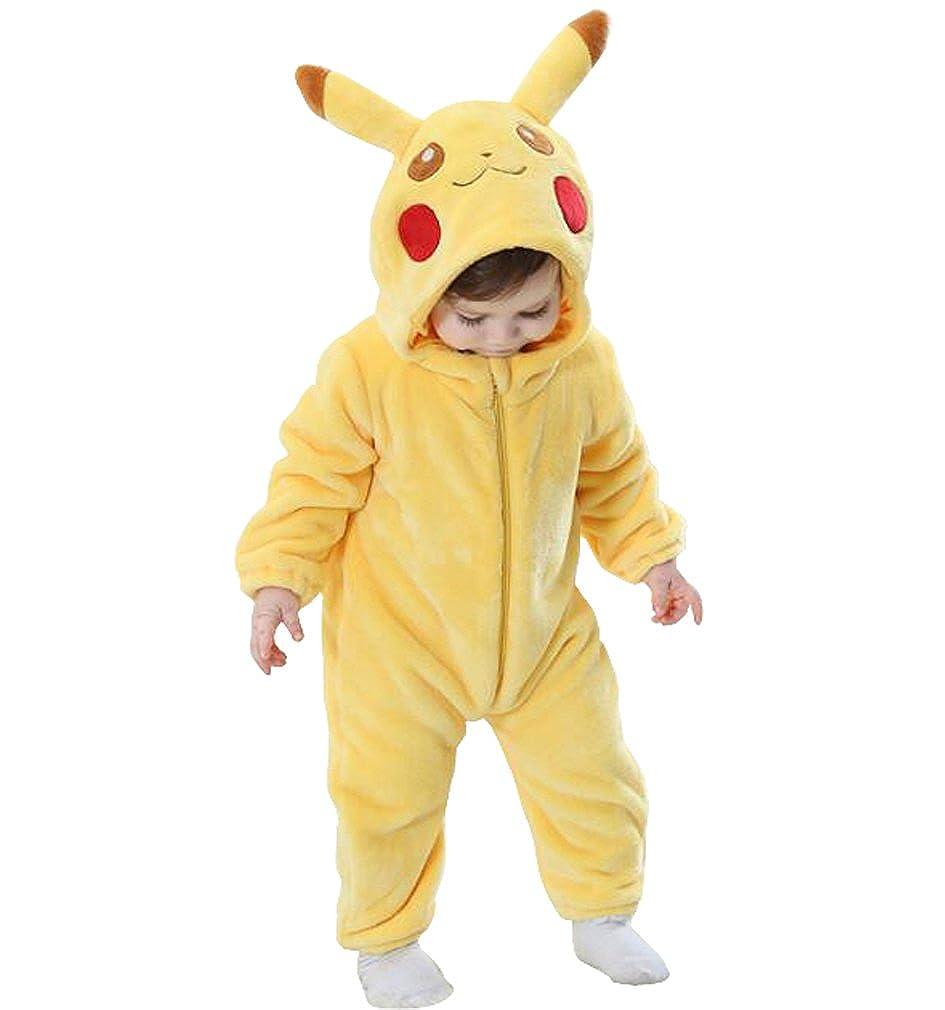 CLOHO Unisex-Baby Animal Onesies Flannel Cartoon Romper Animal Outfits