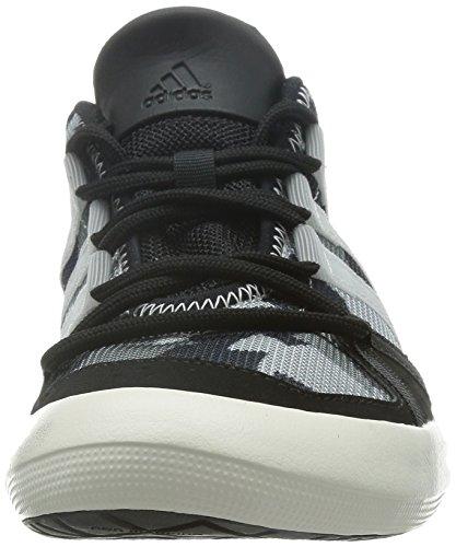 Adidas Boat Lace Segelschuh Unisex schwarz-grau, Größe EU 42 2/3 (UK 8,5)