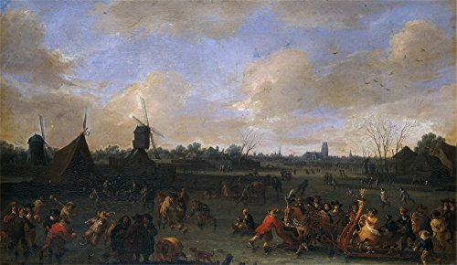 Oil Painting 'Bout Pieter Los Patinadores 1678', 20 x 35 inch / 51 x 88 cm , on High Definition HD canvas prints is for Gifts And Bed Room, Kids - Van Dries Noten Biography