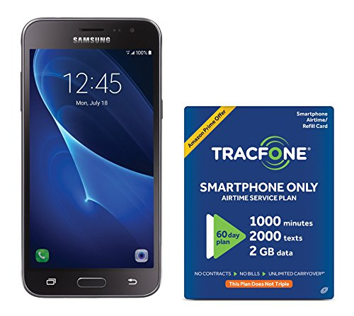Tracfone Samsung Galaxy J3 Sky 4G Lte Prepaid Smartphone With Amazon Exclusive Free  40 Airtime Bundle