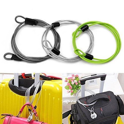 Delight eShop 100cm x 2mm Cycling Sport Security Loop Cable Lock Bikes Bicycle Scooter U-Lock by Delight eShop (Image #1)