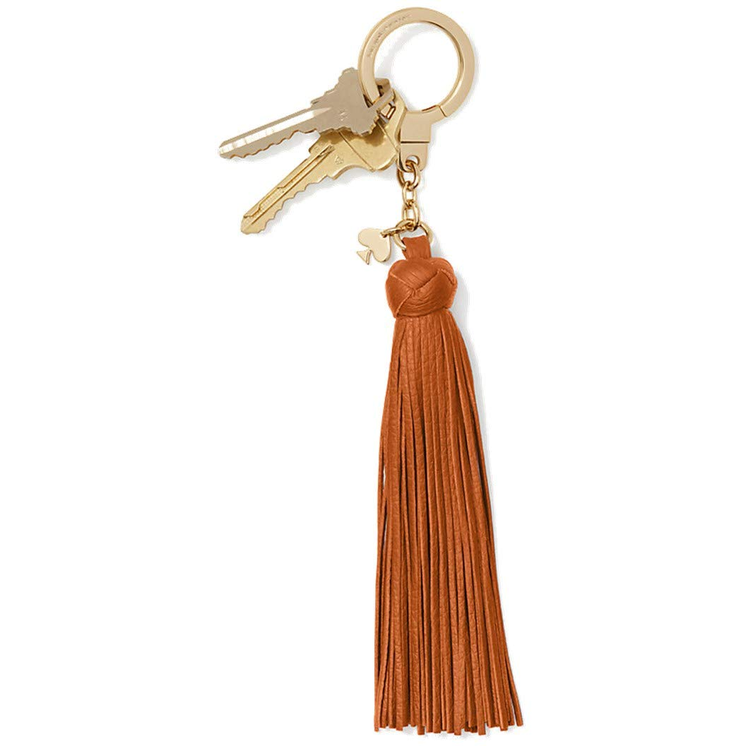 Kate Spade New York Women's Double Sided Tassel Leather Keychain (Warm Cognac) by Kate Spade New York