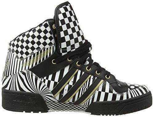 promo code 23490 9ab92 adidas Jeremy Scott Caballeros Sneakers JS WINGS OPART Negro Blanco   Amazon.es  Zapatos y complementos
