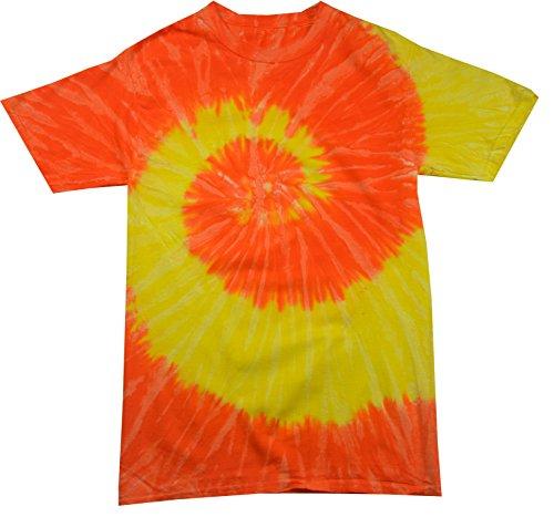 - Colortone Tie Dye T-Shirt SM Spiral Yellow/Orange