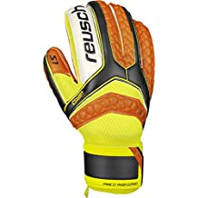 Reusch Soccer Pulse S1 Finger Support Goalkeeper Glove, Size 8, Orange, Pair
