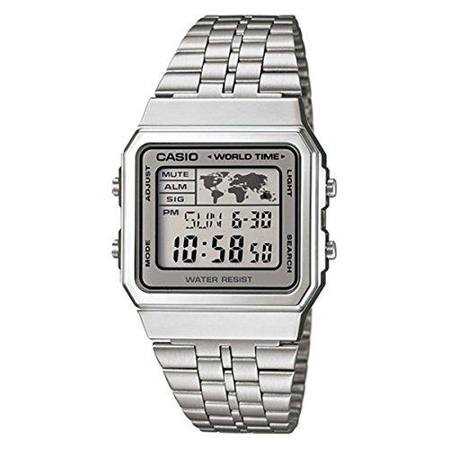 Casio A500WA-7 – Reloj Digital Para Mujer, color LCD/Gris
