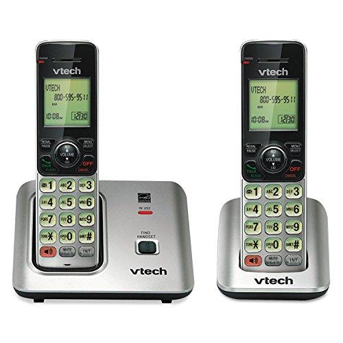 4COU Vtech CS66192 CS6619-2 Cordless Phone System, Base and