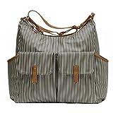 Babymel Frankie Shoulder Bag Diaper Bag, Stripe Navy