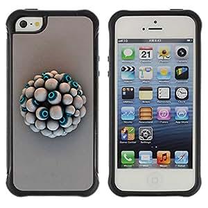 Planetar® ( Eye Ball ) Apple iPhone 5 / 5S Hybrid Heavy Duty Shockproof TPU Fundas Cover Cubre Case