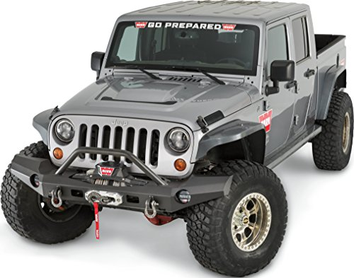 WARN 101465 with Elite Series Full-Width Front Bumper for Jeep JK Wrangler, with Grille Guard Tube ()