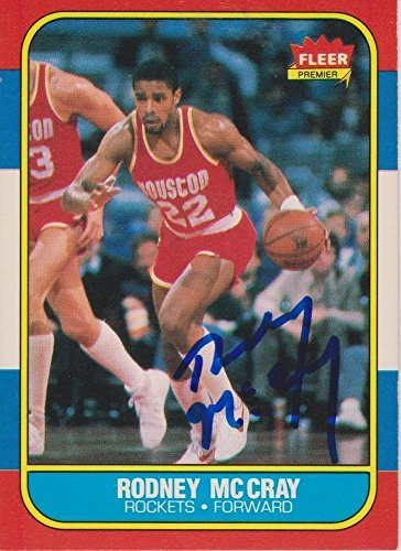 - Rodney Mccray Signed Autographed 1986 Fleer Trading Card Houston Rockets - Certified Certified