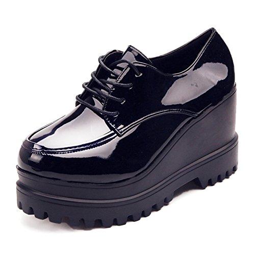 Dick-soled Plattform Women Shoes,British Style Vintage Leder Schuhe,Studenten Nehmen Casual Schuhe A