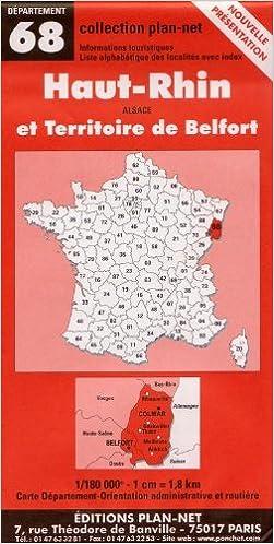 Télécharger en ligne Carte routière : Haut-Rhin - Territoire de Belfort pdf ebook