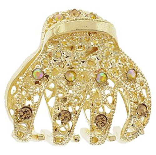 Karina Mini Filigree Claw Clip Gold