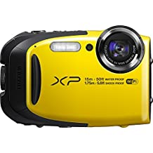 Fujifilm FinePix XP80 Waterproof Digital Camera (Yellow) with Bonus 8GB SD card and case