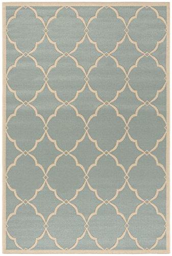 Safavieh Linden Collection Area Rug, 4 x 6 , Aqua Cream