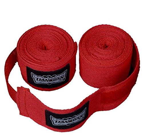 [2.6 meters 100% cotton gloves Elastic Bandage Straps Boxing Gloves Sanda Muaythai Bandage MMA Fighting Gloves] (Lion Costume Philippines)