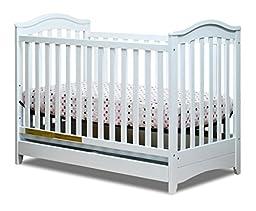 Athena Jeanie 3-in-1 Convertible Crib, White