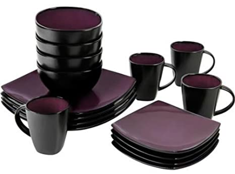 Amazon.com | 16 Piece Dinnerware Set By Gibson Home. This Soho ...