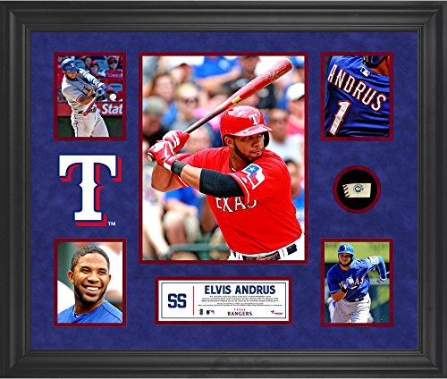 Elvis Andrus Texas Rangers Framed 5-Photo Collage with Pi...