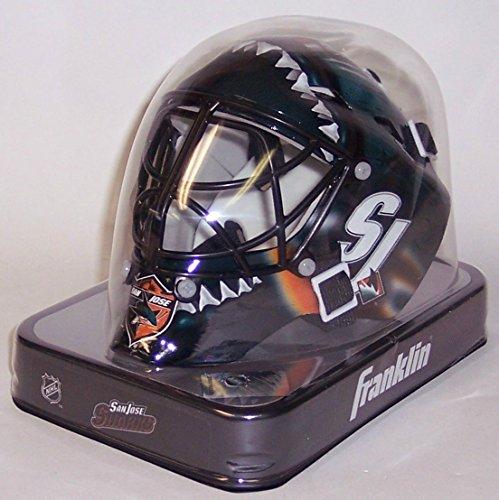(San Jose Sharks Franklin Sports NHL Mini Goalie Mask - New in Box)