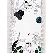 Rookie Humans 100% Organic Cotton Sateen Fitted Crib Sheet: Woodland Dreams. Use as a Photo Background for Your Baby Pictures. Standard Crib Size (52 x 28 inches). (Organic Cotton Sateen)