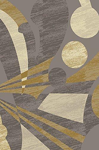 Planetラグプレミアムコレクション手彫り3d効果Thick & HeavyモダンContempoエリアラグ5 x 7カーペットh217グレーグレーゴールドイエロークリーム   B079TJH6GT