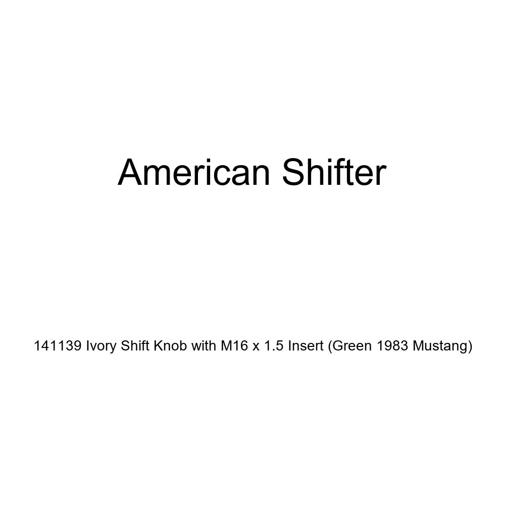 American Shifter 141139 Ivory Shift Knob with M16 x 1.5 Insert Green 1983 Mustang