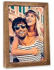 Zep BM461V verticale fotolijst van hout, trapeziumvormig, voor tafel en muur, bruin