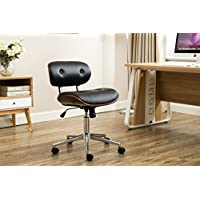 Porthos Home Button-Tufted Bancroft Office Chair, Black
