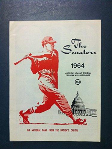 1964 Senators Program vs White Sox (28 pg) Unscored Near-Mint [Very sharp, feels like new; very minor cover ()