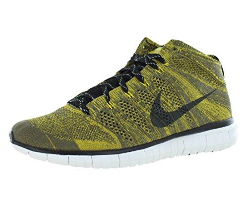 Nike Men's Free Flyknit Chukka Tarp Green/Black/Swd/Gld Ld Running Shoe 11 Men US