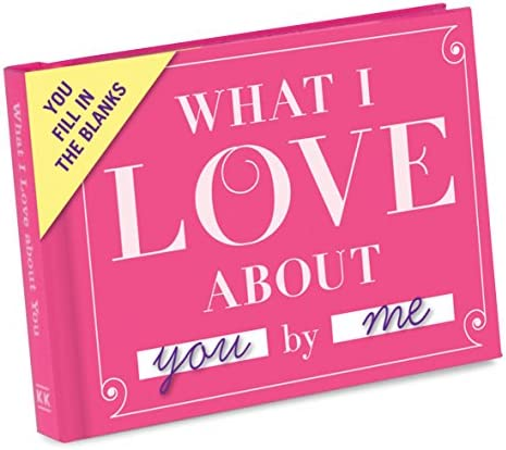 Knock Knock What I Love about You Fill within the Love Book Fill-in-the-Blank Gift Journal, 4.5 x 3.25-Inches