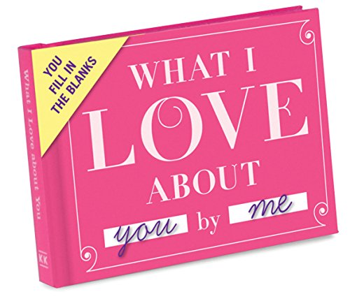 Anniversary Toys - Knock Knock What I Love about You Fill in the Love Book Fill-in-the-Blank Gift Journal