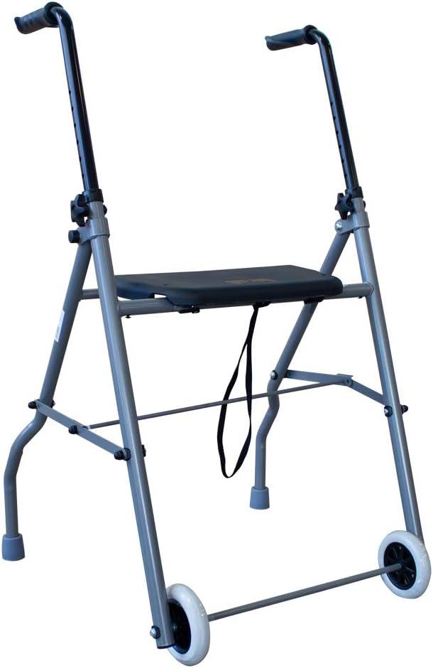 Queraltó Andador de Aluminio Muy Ligero, Plegable y de fácil Uso para Adultos