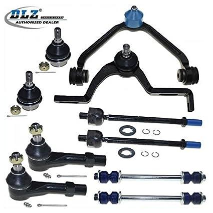 amazon com dlz 10 pcs front suspension kit upper control arm lower rh amazon com