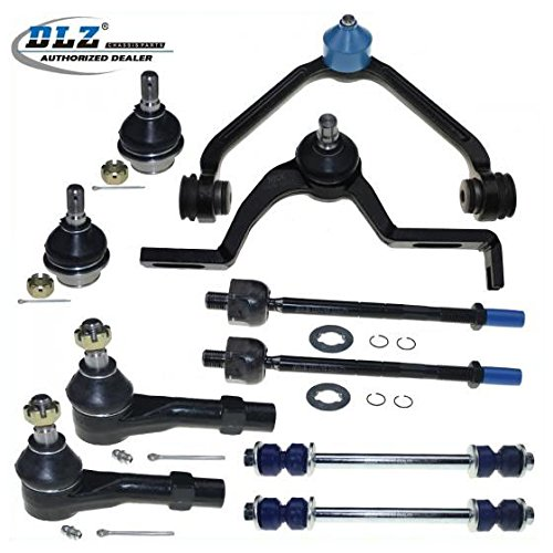 DLZ 10 Pcs Front Suspension Kit-2 Upper Control Arm 2 Lower Ball Joint 2 Inner 2 Outer Tie Rod End Compatible with Mazda B3000 B4000 1998-2001/Ford Explorer Ranger 1998-2001#CK8708T K8695T EV317 ()