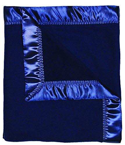 Raindrops Fleece Receiving Blanket, Navy