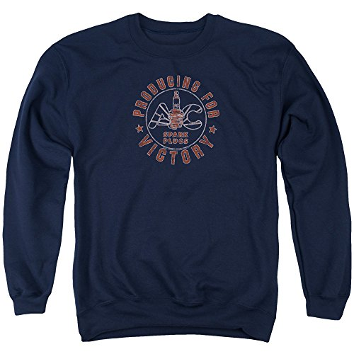 Ac Delco Producing for Victory Unisex Adult Crewneck Sweatshirt for Men and Women, X-Large Navy
