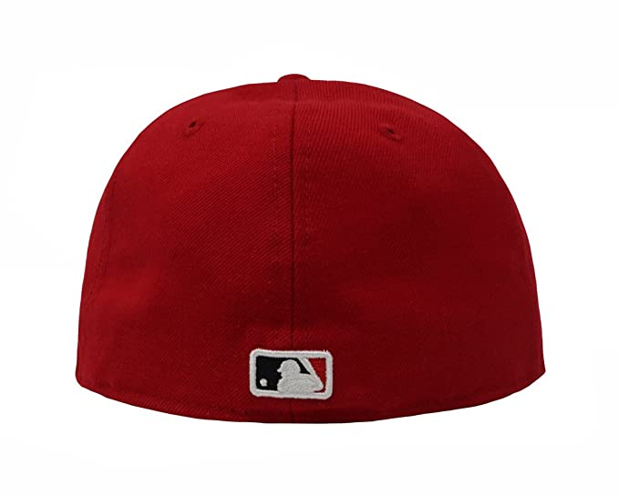 7ad04e5865e8d New Era 59Fifty Hat New York Yankees MLB Red Fitted Headwear Cap at Amazon  Men s Clothing store