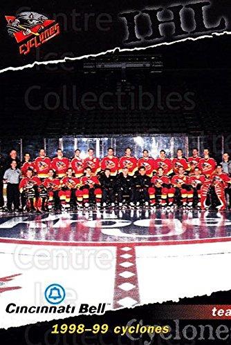 (CI) Cincinnati Cyclones, Team Photo Hockey Card 1998-99 Cincinnati Cyclones 23 Cincinnati Cyclones, Team Photo