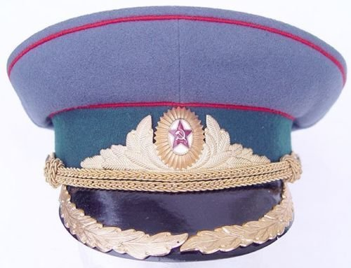 1940s RUSSIAN SOVIET NKVD BORDER GUARD OFFICER MILITARY UNIFORM VISOR HAT CAP (Guards Soviet Border)