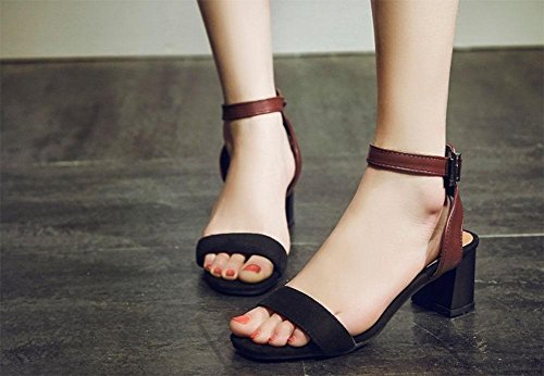 MEILI Palabra de mujer con sandalias de tacón alto 2