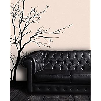 Stickerbrand nature vinyl wall art bare tree branch wall decal sticker black 60